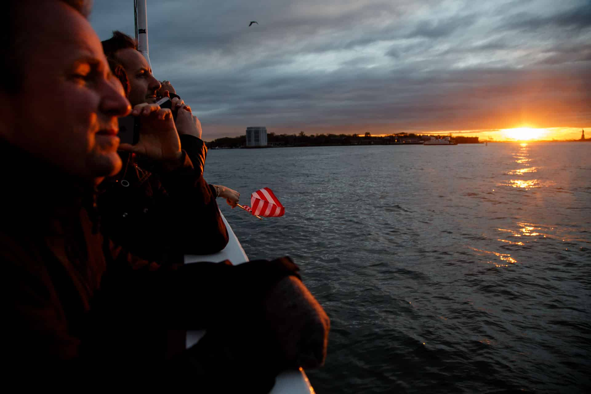 Atardecer Ferry Manhattan