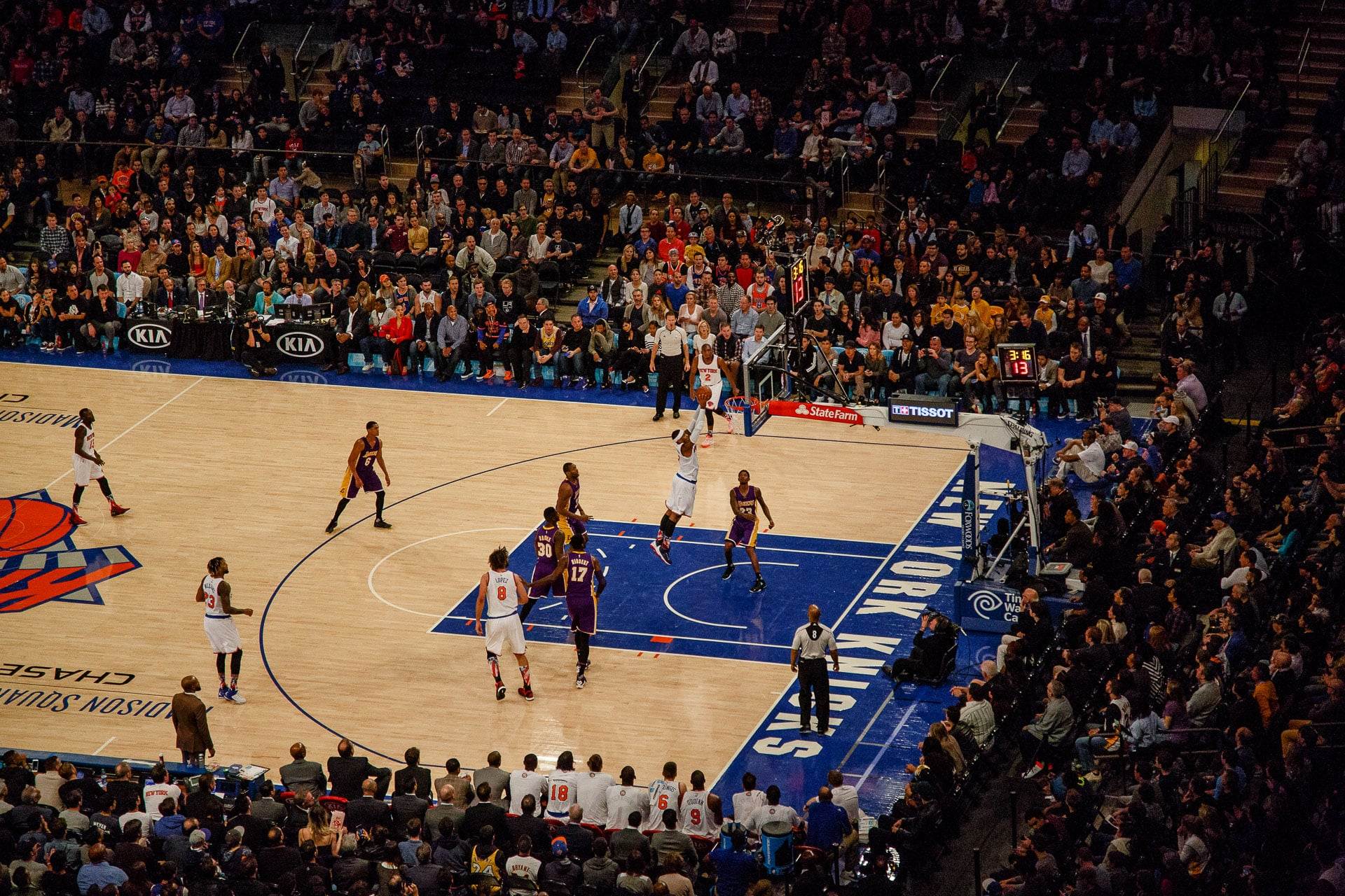 nba basket madison square garden