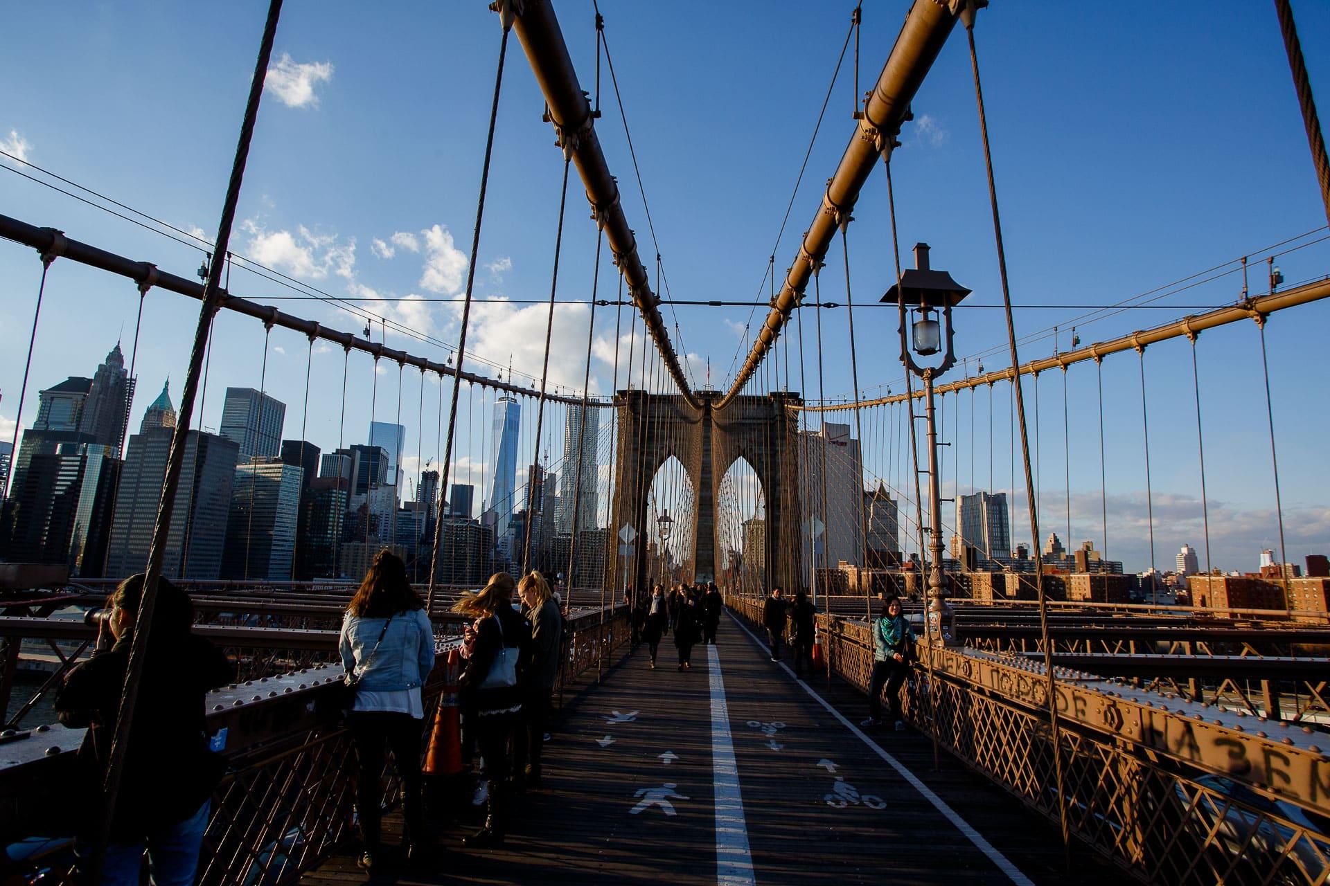atardecer puente de brooklyn