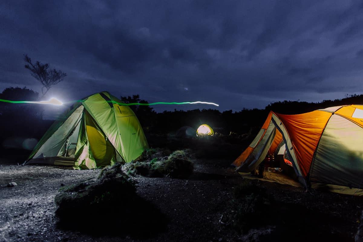 kilimanjaro ruta rongai tienda de campaña